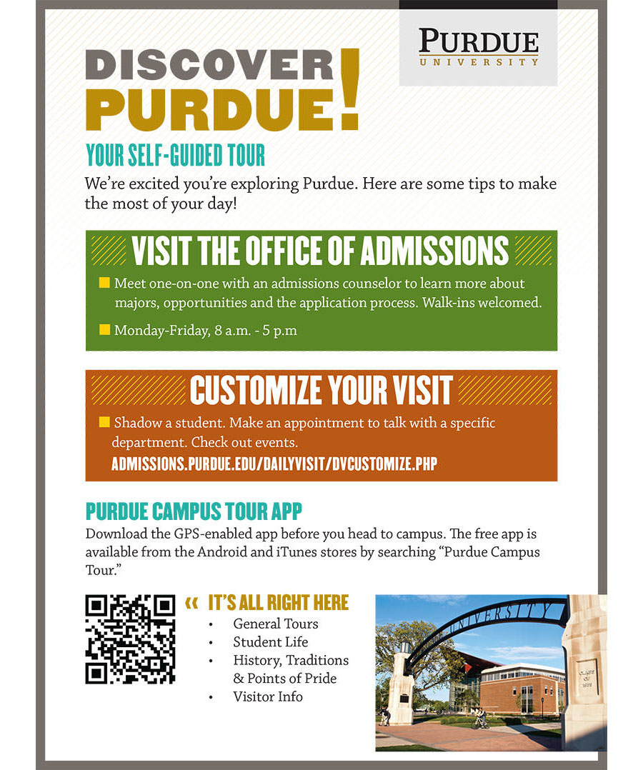 Purdue Admissions self-guided tour